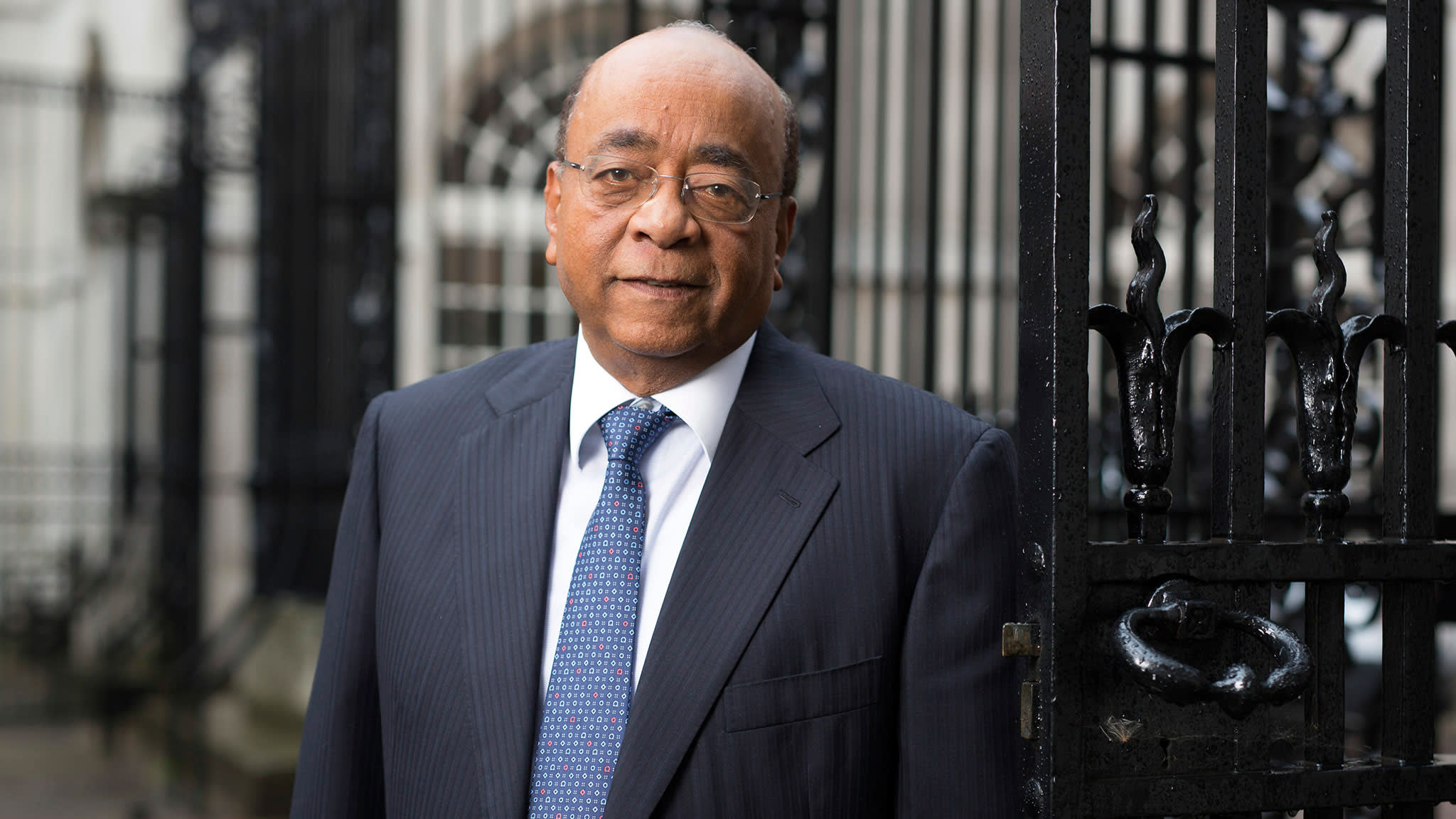 Role models: Mo Ibrahim describes his prize as a 'reward for good behaviour'