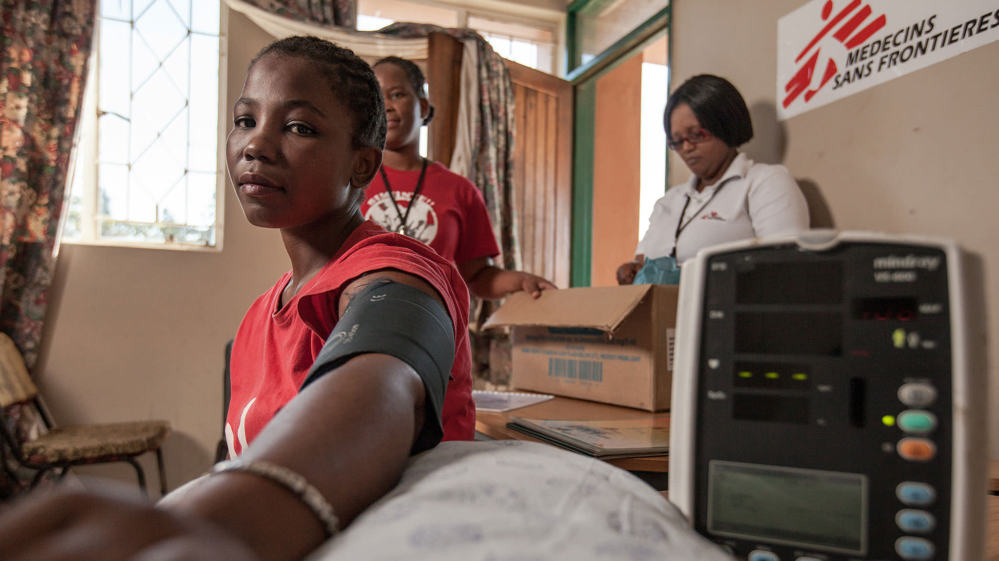 Check-up: a young mother attends a Médecins Sans Frontières-run HIV clinic in Eshowe, KwaZulu-Natal