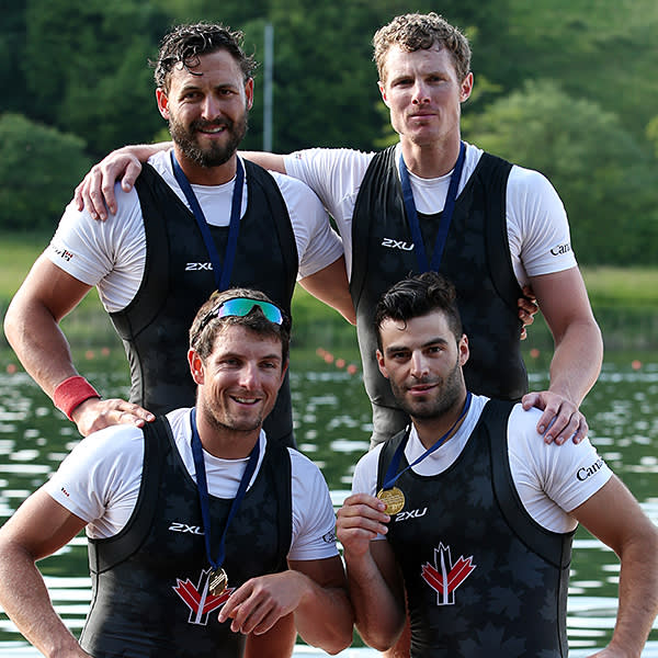 Julien Bahain, France, rowing, Olympic bronze, quadruple sculls, Beijing 2008 (later competed for Canada)