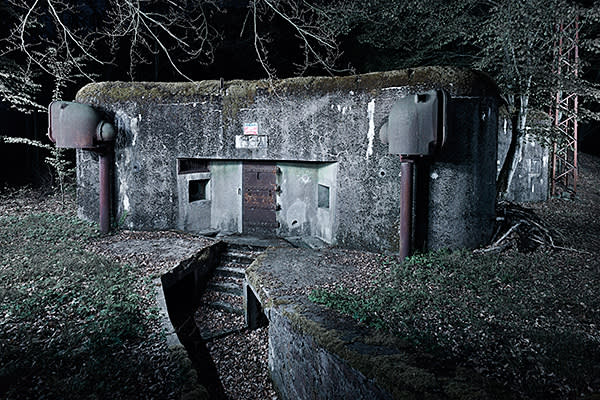 One of the Maginot Line fortifications, built during the 1930s to deter a German invasion, near Lembach in France