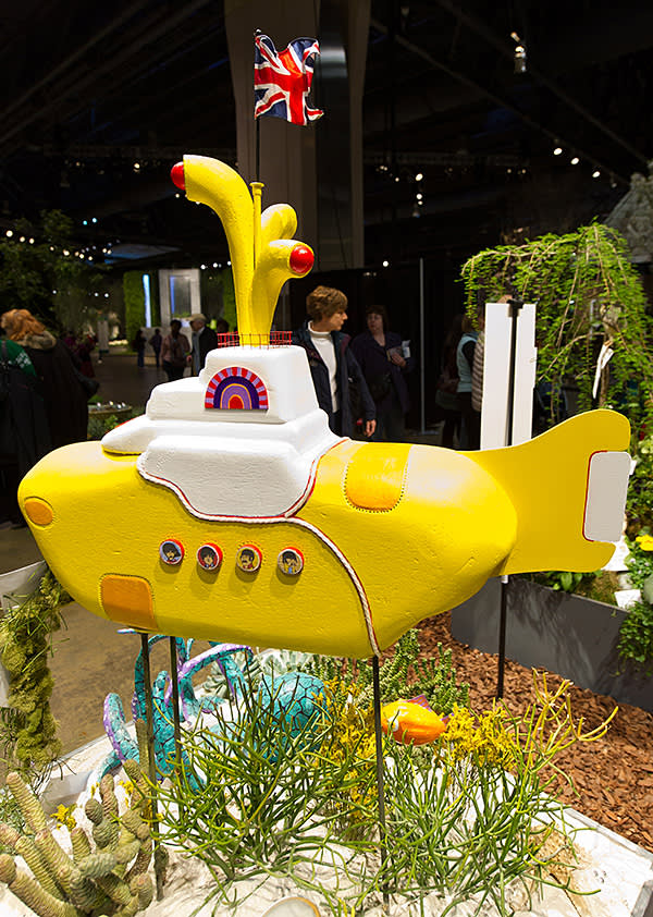 A display based on The Beatles' 'Yellow Submarine' at the 2013 show