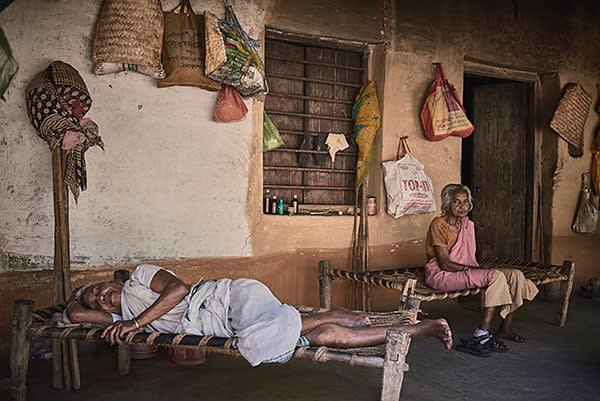 The female ward of the Naba Kusta ashram