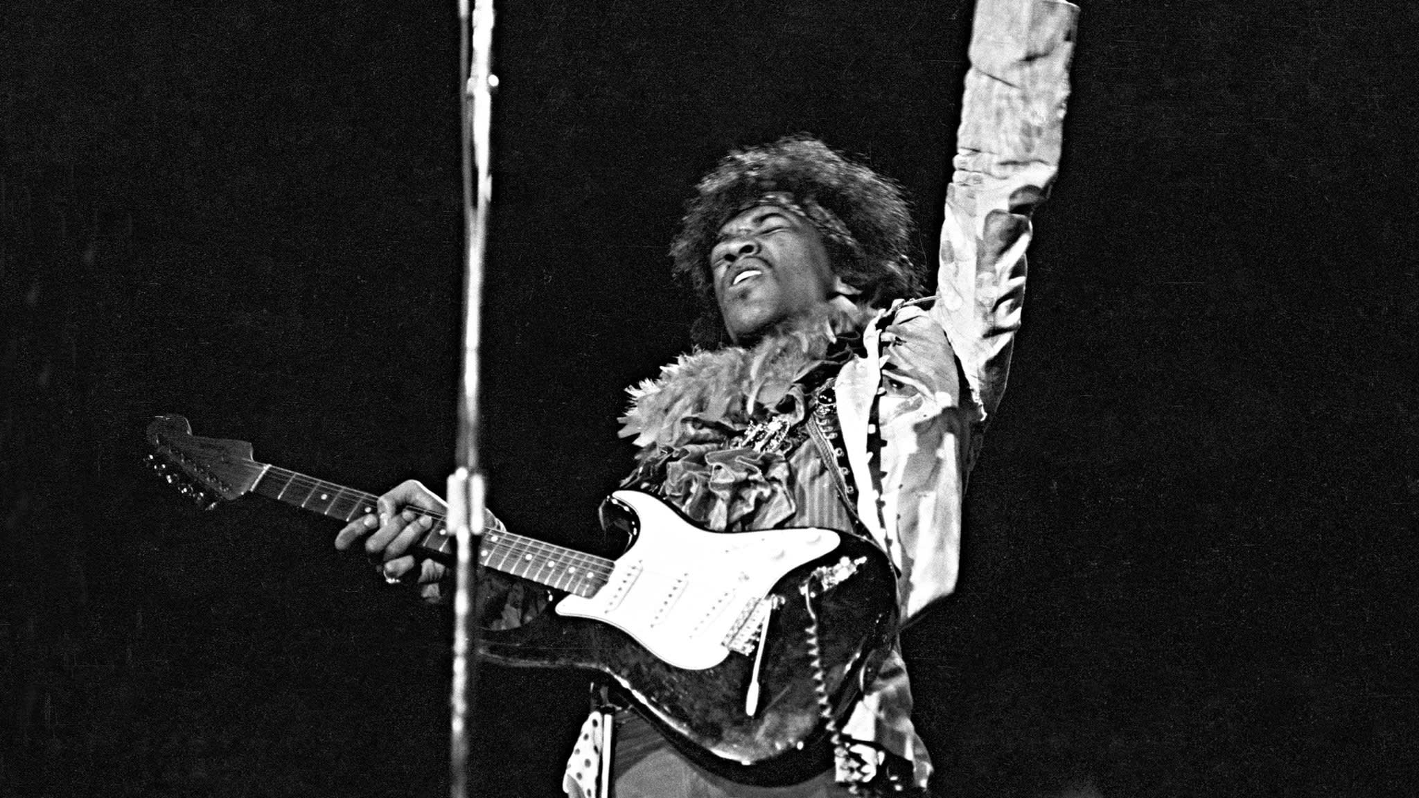 Bob dylans all along the watchtower redefined by jimi hendrix jimi hendrix performs at the monterey pop festival june 1967 altavistaventures Images