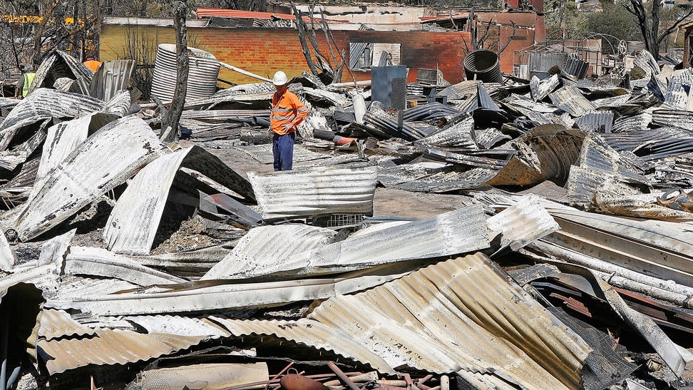 Devastating: property damage after the Black Saturday bushfires in Bendigo, Victoria