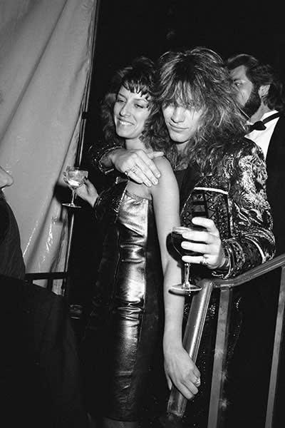 Jon Bon Jovi with his wife Dorothea Hurley in 1988