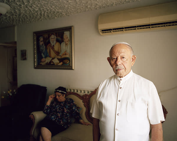 Chaim and Rivka Malul at their home in Jerusalem.