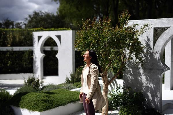 Garden designer Kamelia Bin Zaal in her Beauty of Islam show garden in 2015