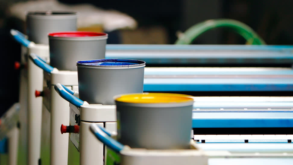 Primary colours: Anglia relies on greener inks in its printing process