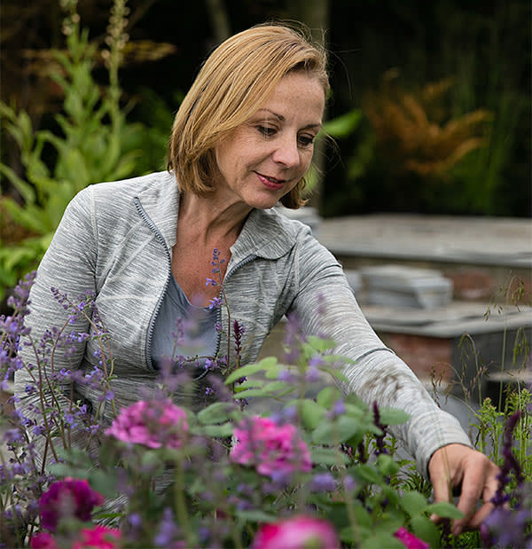 Jo Thompson in her show garden