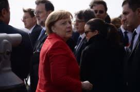 German Chancellor Angela Merkel at the Malta summit, where she spoke of a 'multi-speed' Europe