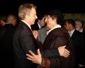 Tony Blair with Colonel Gaddafi