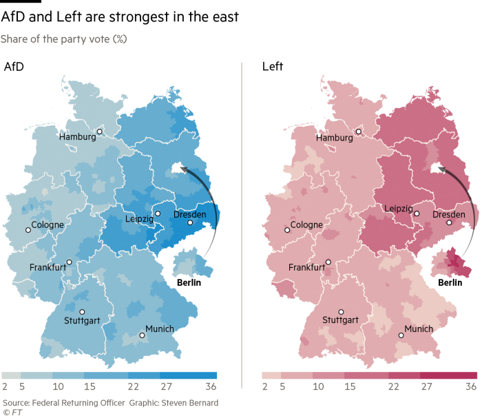Germanys Election Results In Charts And Maps - Germany map today