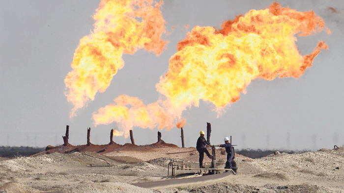 Excess gas is burned off in south Rumaila oil field, south of Basra, 420 km (260 miles) southeast of Baghdad December 2, 2009