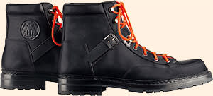 Black calfskin boots by Hermès, £920