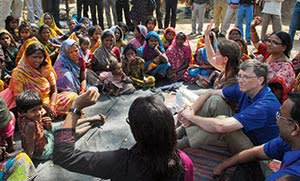 Bill and Melinda Gates in India