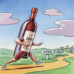 illustration of a red Bordeaux wine