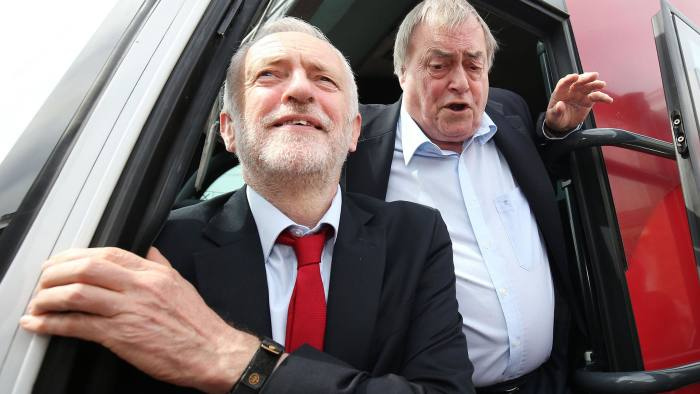 PABEST Labour leader Jeremy Corbyn with former Labour deputy prime minister John Prescott (right) during General Election campaigning in Hull. PRESS ASSOCIATION Photo. Picture date: Monday May 22, 2017. See PA story ELECTION Main. Photo credit should read: Chris Radburn/PA Wire