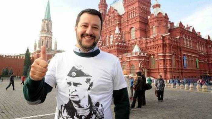Image result for putin and salvini italy