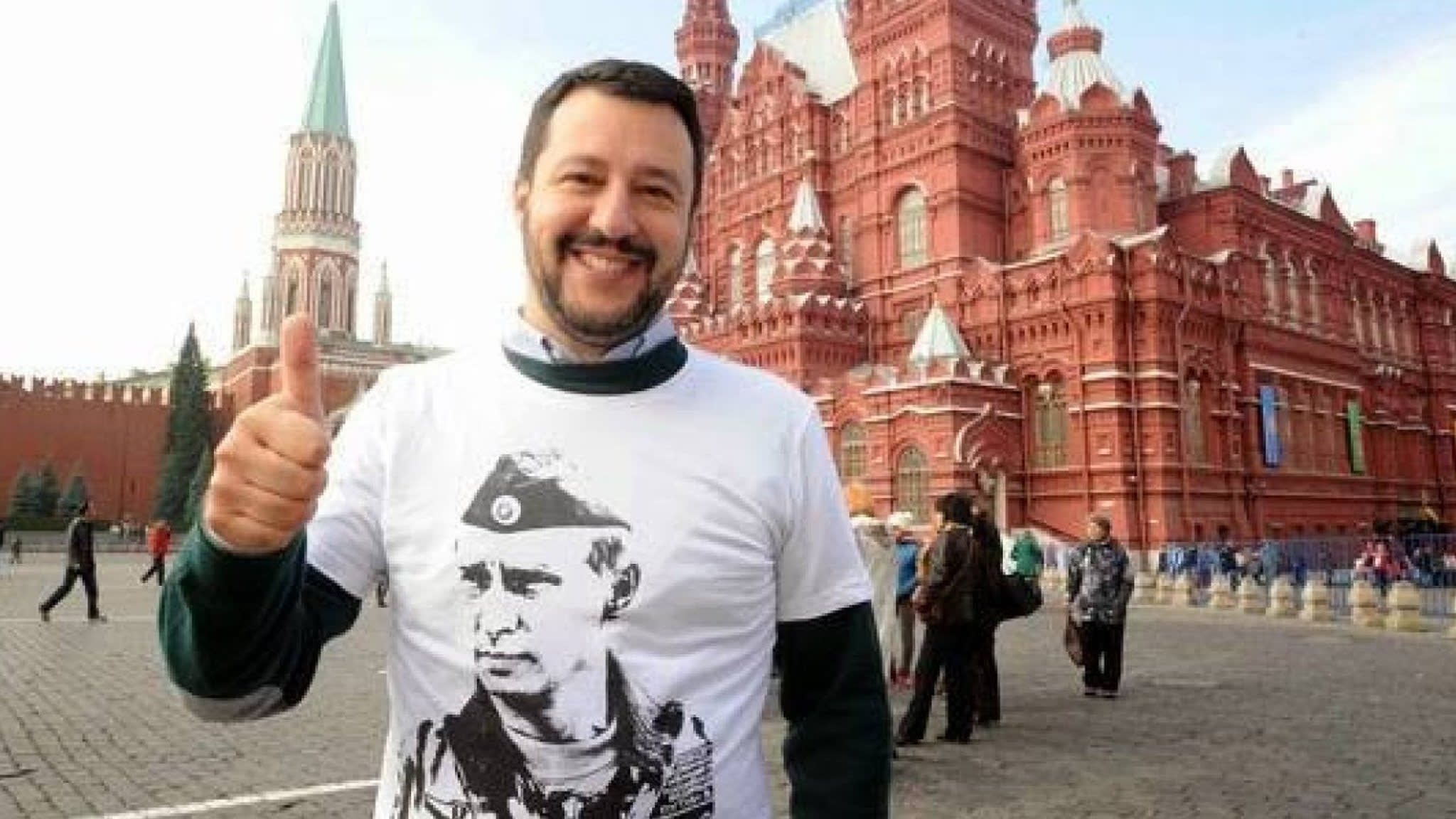 Image result for salvini and putin