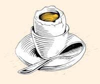 Illustration by Joe Wilson of a breakfast egg