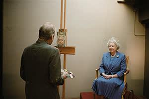 'HM Queen Elizabeth II', 2001 by Lucian Freud