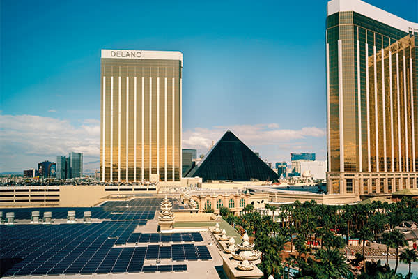 The Mandalay Bay Resort in Las Vegas, which has installed 20,000 rooftop solar panels
