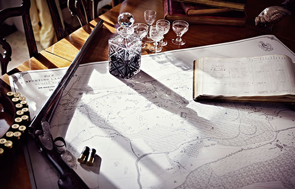 A hunting map created by Anthony Pelly