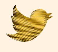 Illustration by Joe Wilson of the Twitter logo