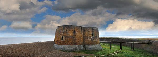 Martello Tower on Aldeburgh beach, Suffolk