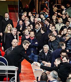 Nicolas Sarkozy in PSG's VIP stand