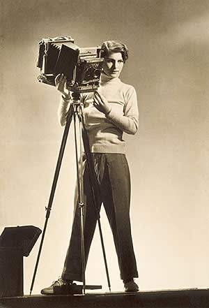 'Self-Portrait with Camera' (c1933) by Margaret Bourke-White, on show at Musée d'Orsay, Paris