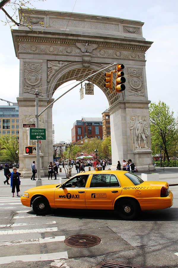 Washington Square Arch in Lower Manhattan, New York