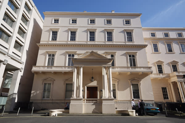 House for sale in Carlton House Terrace in London, with a reported asking price of £250m