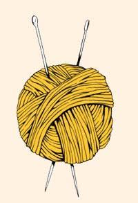 Illustration by Joe Wilson of a yarn ball for crocheting