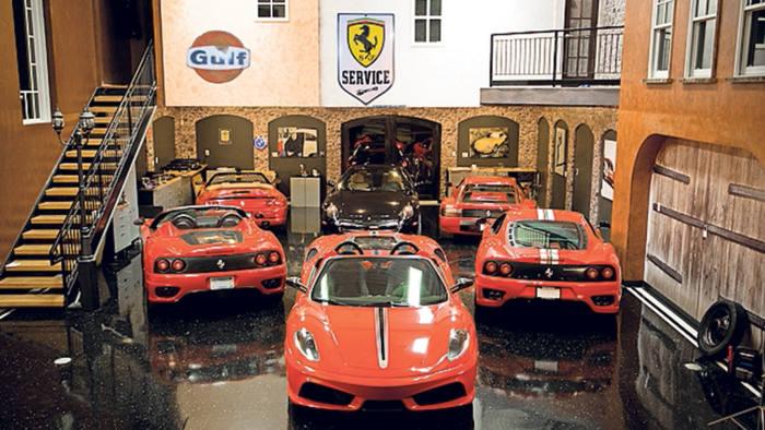 A Ferrari garage at AutoMotorPlex, Minnesota