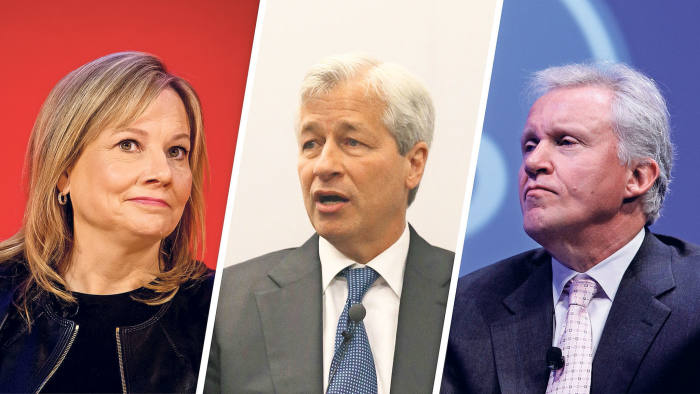 Secret meetings: Mary Barra, Jamie Dimon and Jeff Immelt, left to right, discussed improving shareholder relations