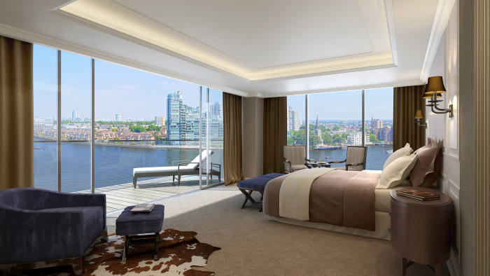 CGI of an apartment at Chelsea Waterfront