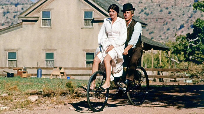 Katharine Ross and Paul Newman in 'Butch Cassidy and the Sundance Kid' (1969)
