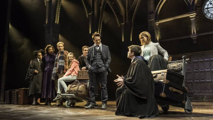Jamie Parker, third from right, and the cast of 'Harry Potter and the Cursed Child'. Photo: Manuel Harlan