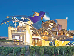 Marqués de Riscal in Rioja, Spain, by Frank Gehry