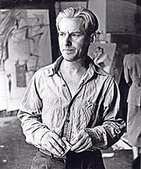 Willem de Kooning in his studio in 1950