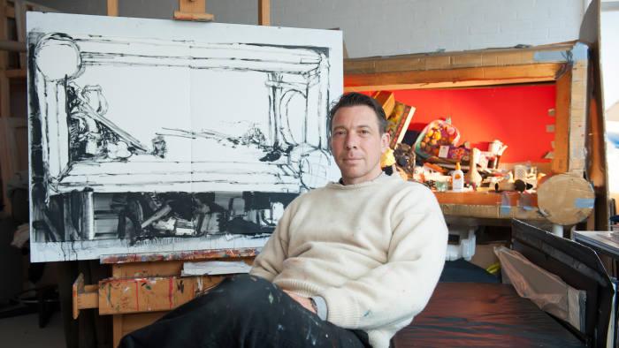 Simon Ling in his London studio