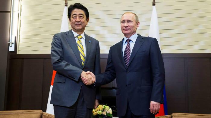 Controversial: Shinzo Abe meets Vladimir Putin in May