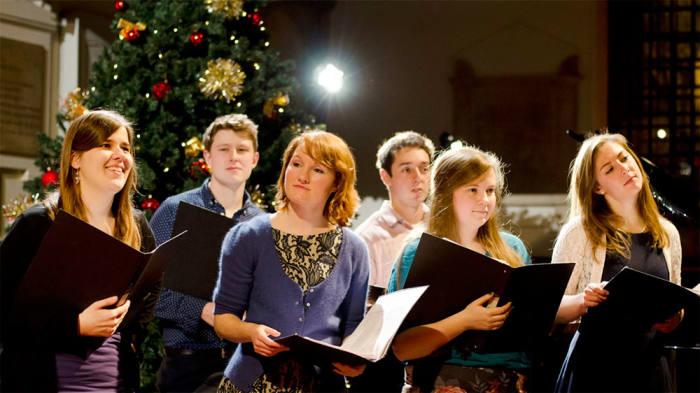 The Godwine Choir performing the FT Christmas carol