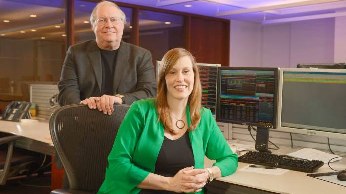 -- Bill Miller and his co-portfolio manager Samantha McLemore at Legg Mason, in Baltimore, Maryland, USA on February 4, 2013.
