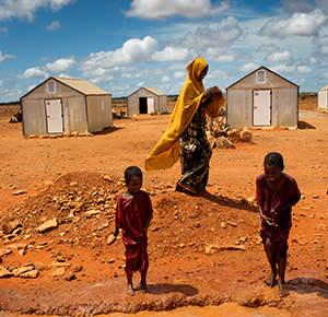 Prototype shelters at Kobe refugee camp in Dollo Ado, Ethiopia