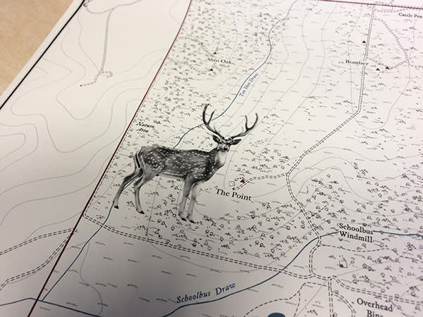 A US hunting map by Anthony Pelly