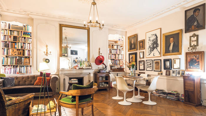 An apartment in the Marais district of Paris, with decor inspired by vintage finds and antiques