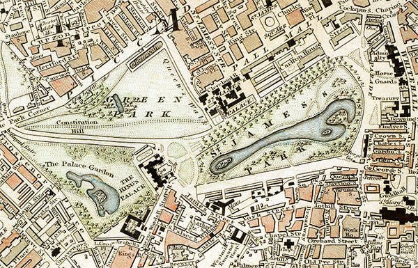 Map of central London in the late 1800s