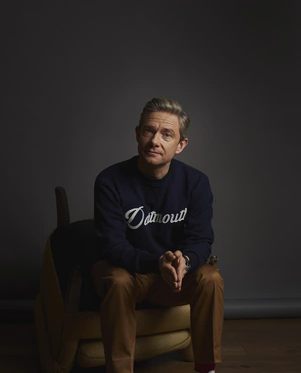 Martin Freeman photographed at The Soho Hotel London